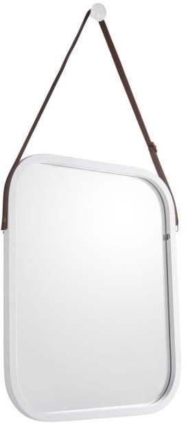 Nástenné zrkadlo v bielom ráme PT LIVING Idylic, dĺžka 40,5 cm