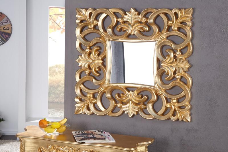 Nástenné zrkadlo Venice zlaté - vintage 75cm