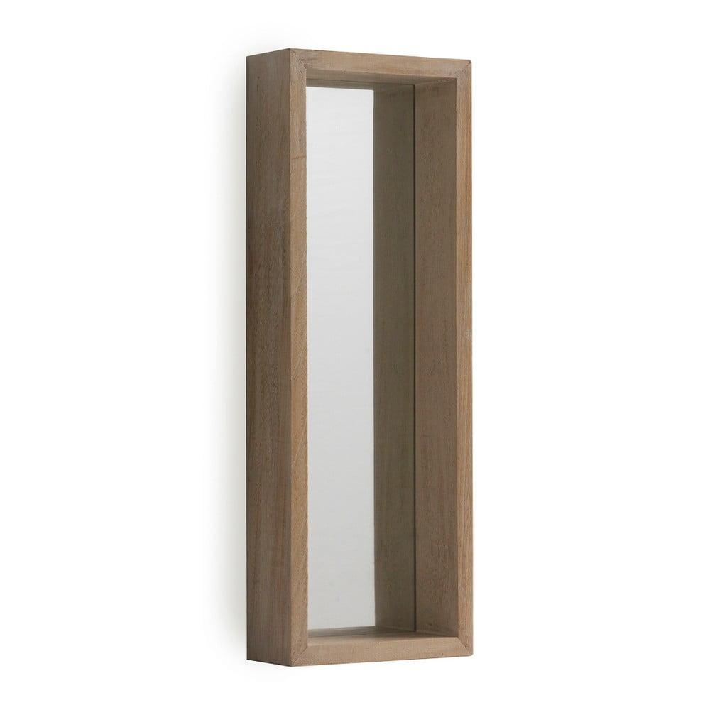 Nástenné zrkadlo z dreva paulovnie Geese Pure, 62 × 22 cm