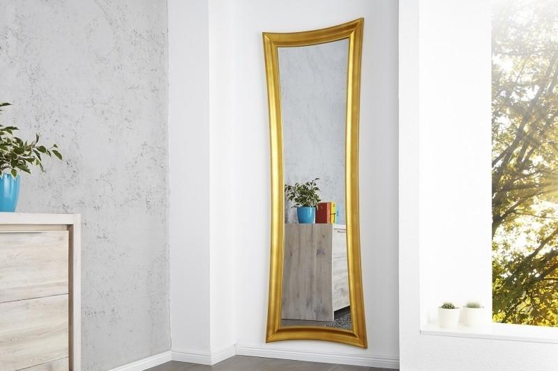 Nástenné zrkdo Skinny 180cm zlaté vintage