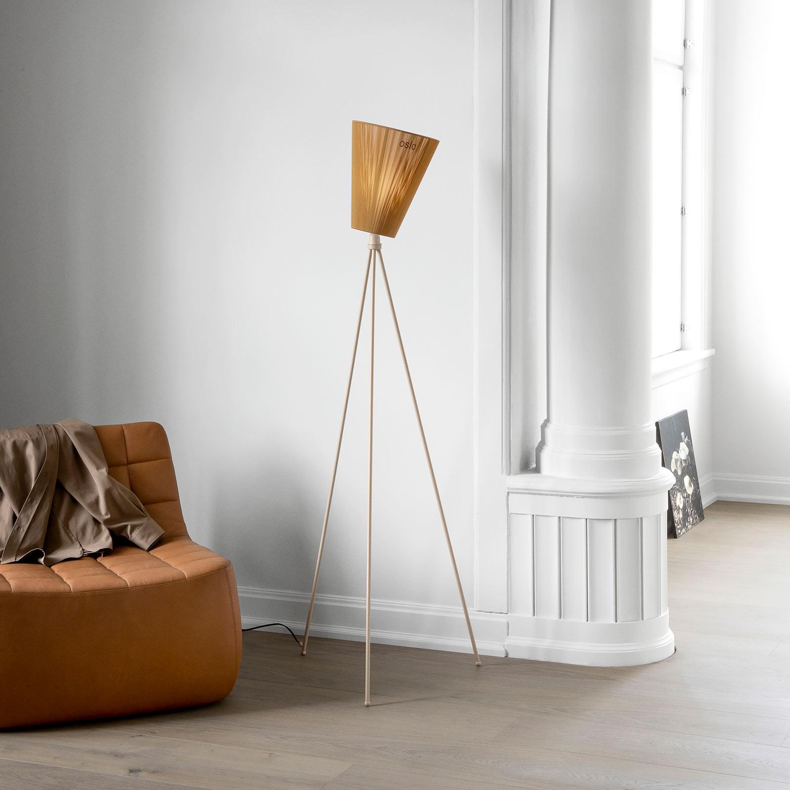 Northern Northern Oslo Wood stojaca lampa karamel/béžová