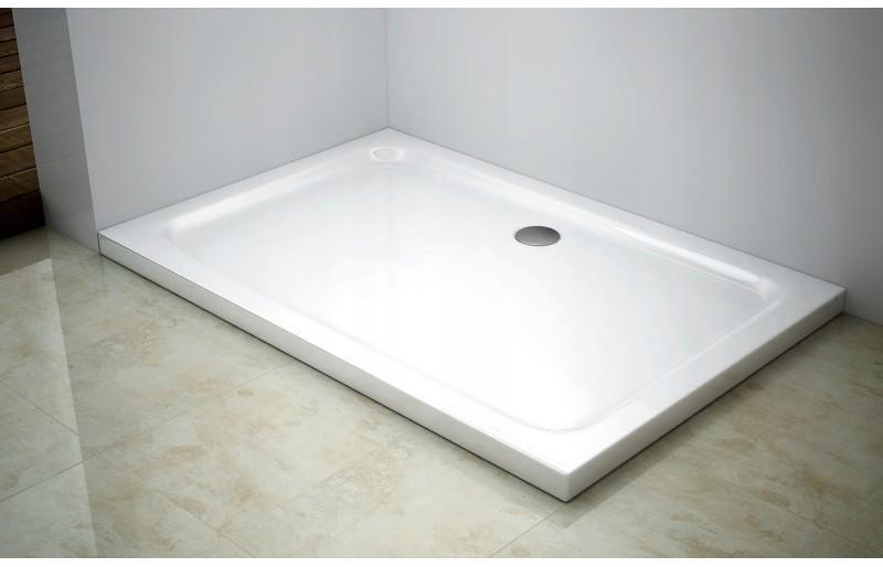 Obdĺžniková sprchová vanička MEXEN SLIM biela, 120 x 70 cm + sifón