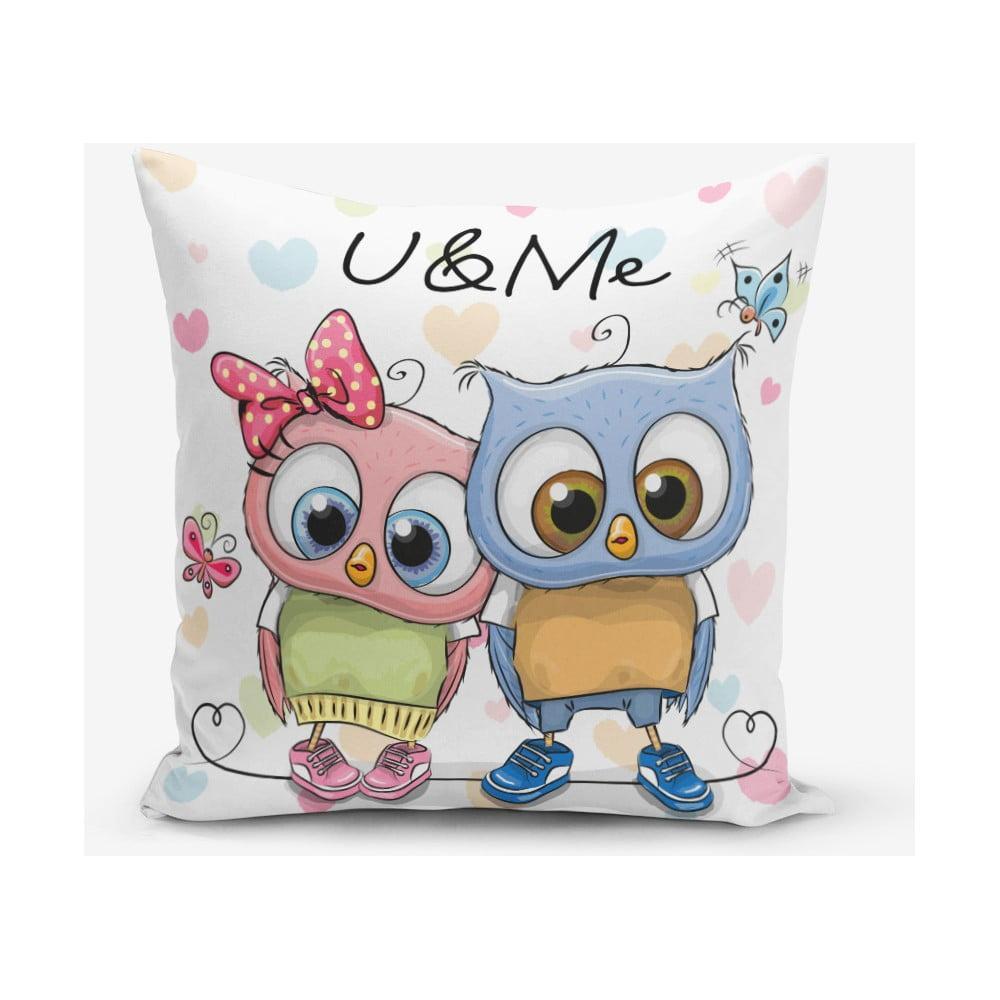 Obliečka na vaknúš s prímesou bavlny Minimalist Cushion Covers Hearts Colorful, 45 × 45 cm