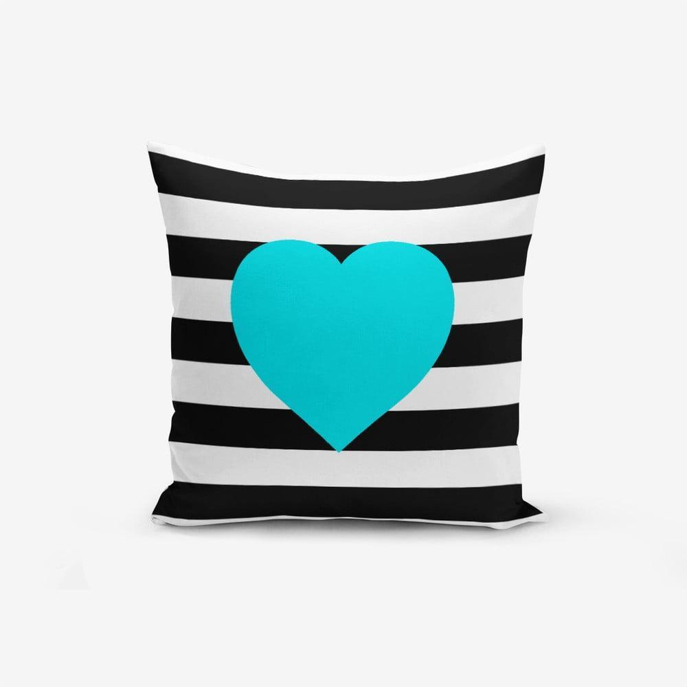 Obliečka na vaknúš s prímesou bavlny Minimalist Cushion Covers Striped Blue, 45 × 45 cm