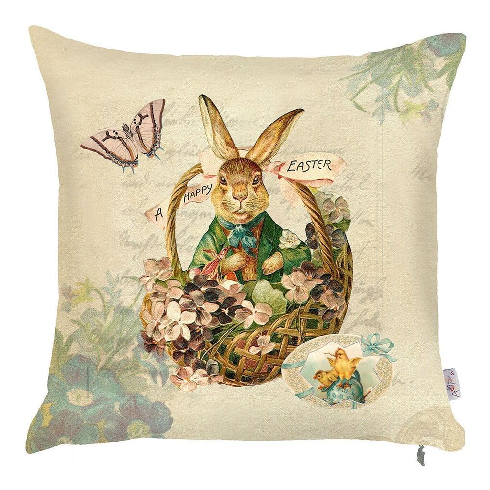 Obliečka na vankúš Apolena Easter Rabbit, 43 × 43 cm
