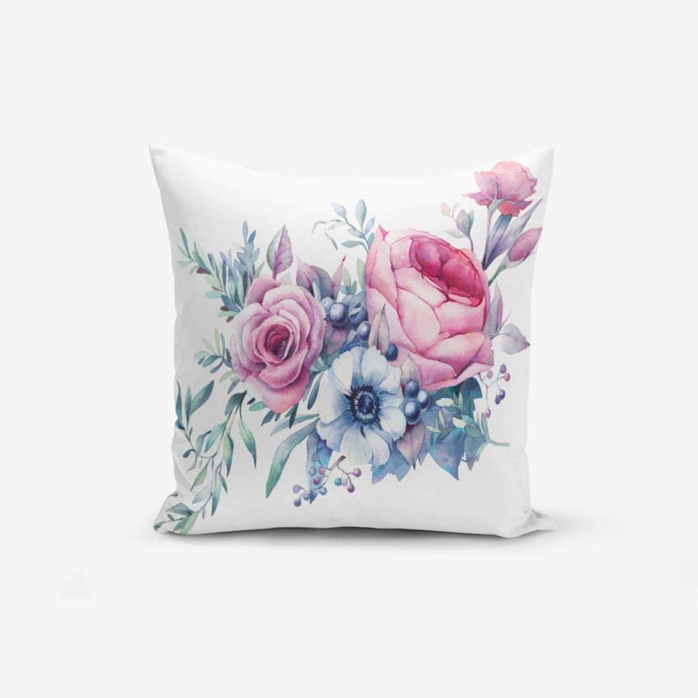 Obliečka na vankúš s prímesou bavlny Minimalist Cushion Covers Liandnse Special Design Flower, 45 × 45 cm