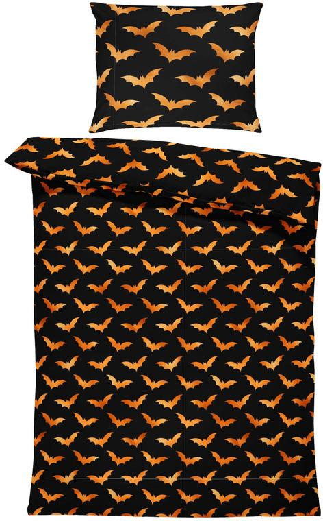 Obliečky Halloween bats (Rozmer: 1x140/220 + 1x90/70)