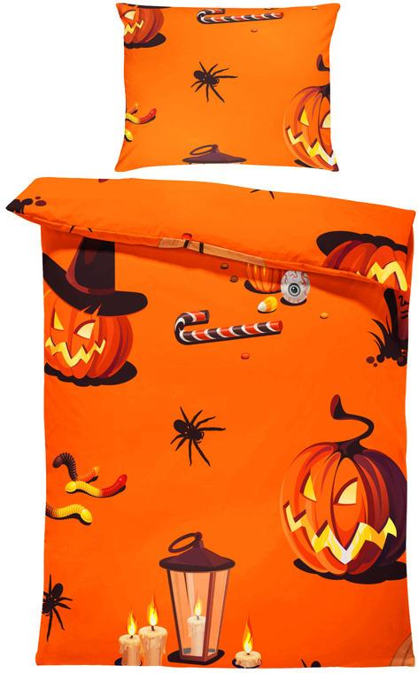 Obliečky Halloween vzor 1 (Rozmer: 1x140/220 + 1x90/70)