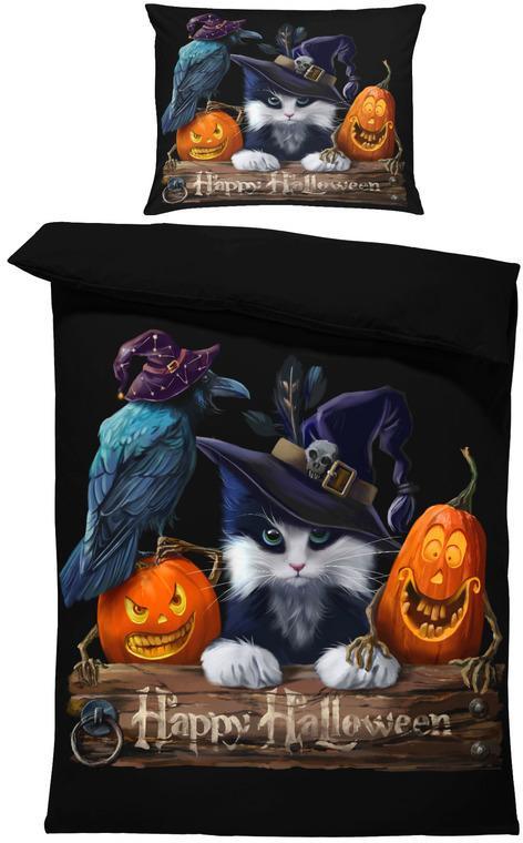 Obliečky Happy Halloween (Rozmer: 1x150/200 + 1x60/50)