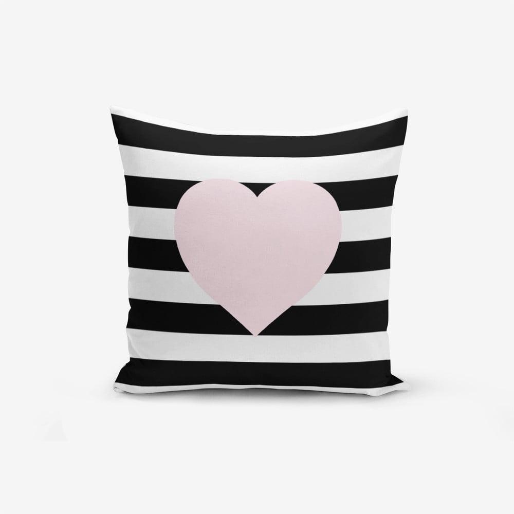 Obliečka na vaknúš s prímesou bavlny Minimalist Cushion Covers Striped Pink, 45 × 45 cm