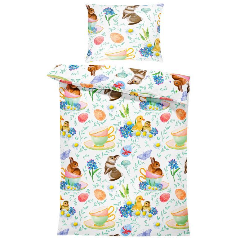 Obliečky Veľkonočné zajačiky (Rozmer: 1x140/220 + 1x90/70)