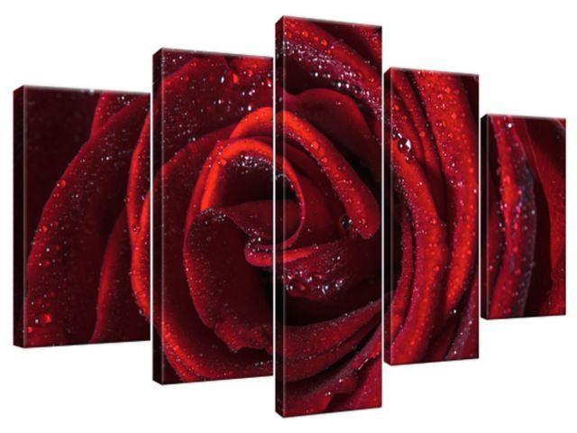 Obraz na plátne Bordová ruža 100x63cm 2047A_5D