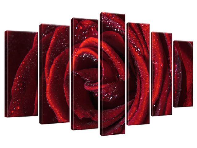 Obraz na plátne Bordová ruža 140x80cm 2047A_7B