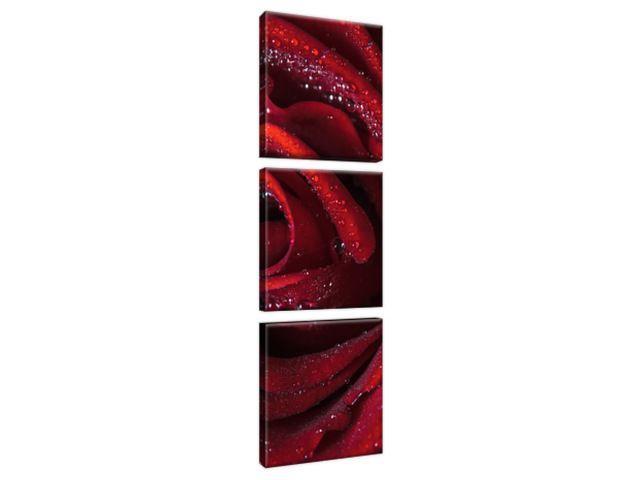 Obraz na plátne Bordová ruža 30x90cm 2047A_3V