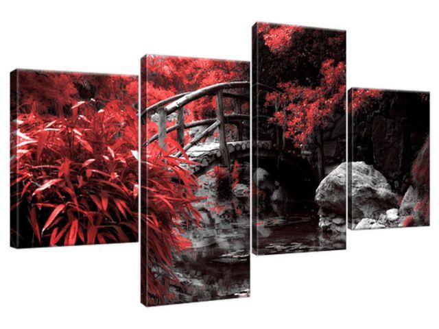 Obraz na plátne Červená Japonská záhrada 120x70cm 2541A_4AA