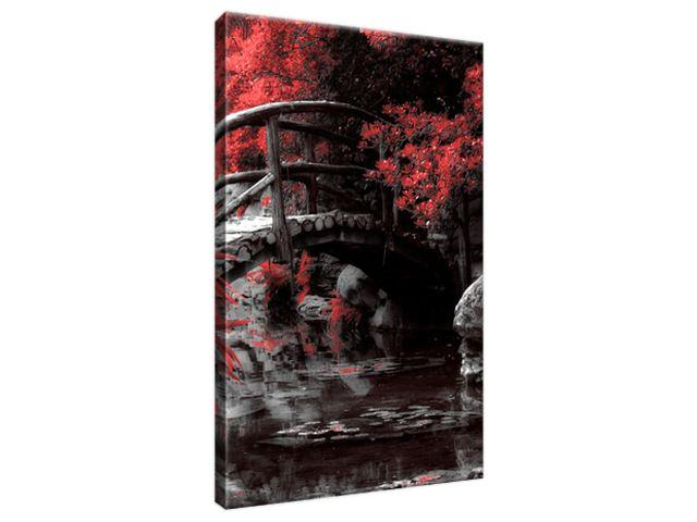 Obraz na plátne Červená Japonská záhrada 20x30cm 2541A_1S