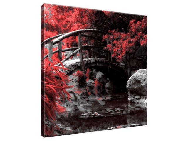 Obraz na plátne Červená Japonská záhrada 30x30cm 2541A_1AI