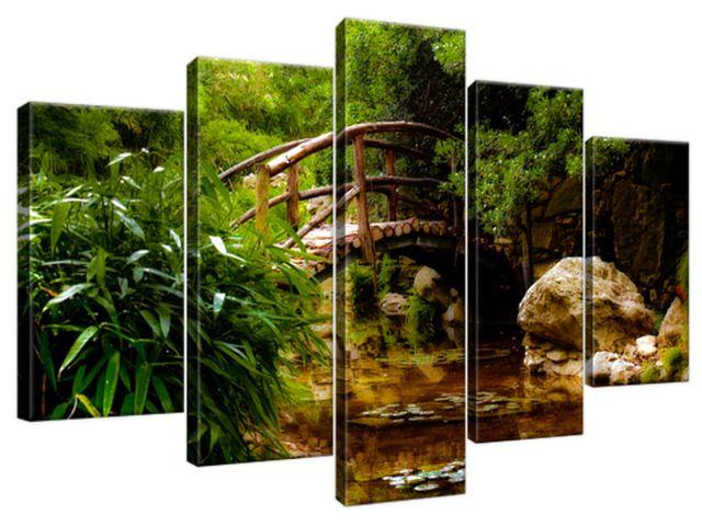 Obraz na plátne Japonská záhrada 100x63cm 2336A_5D