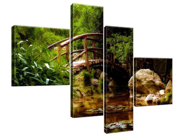 Obraz na plátne Japonská záhrada 100x70cm 2336A_4B