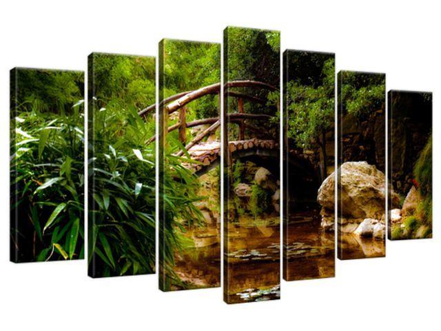 Obraz na plátne Japonská záhrada 140x80cm 2336A_7B