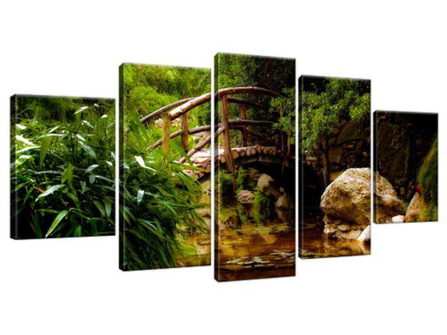 Obraz na plátne Japonská záhrada 150x70cm 2336A_5B