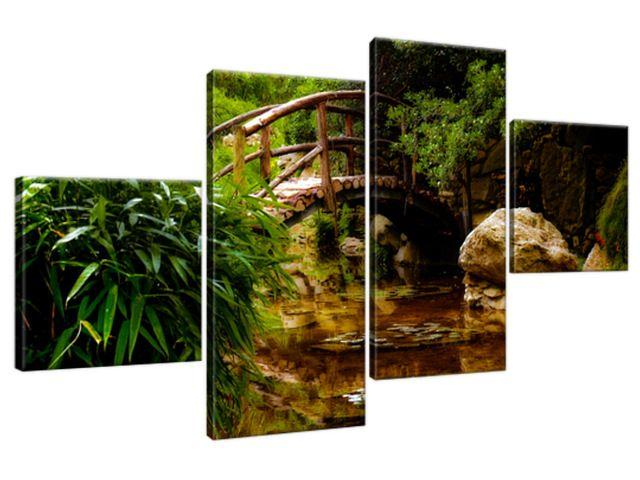 Obraz na plátne Japonská záhrada 160x90cm 2336A_4Q