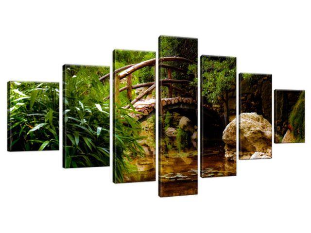 Obraz na plátne Japonská záhrada 210x100cm 2336A_7A