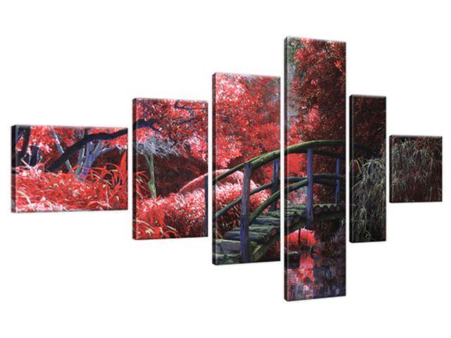 Obraz na plátne Japonská záhrada do červena 180x100cm 2545A_6E