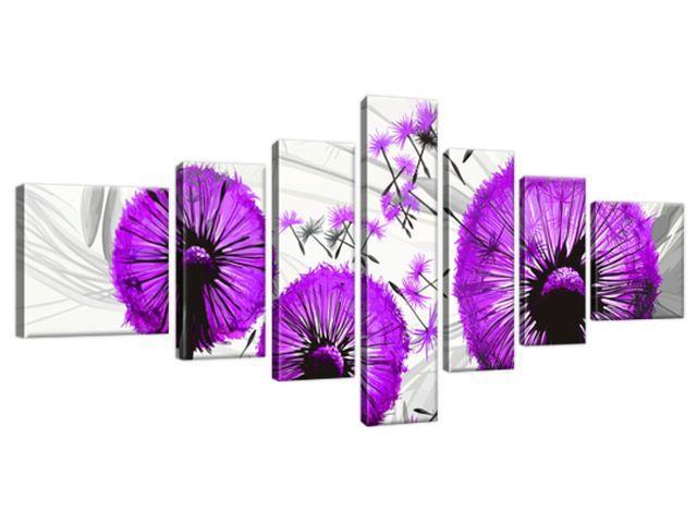 Obraz na plátne Krásne fialové púpavy 160x70cm 4026A_7C