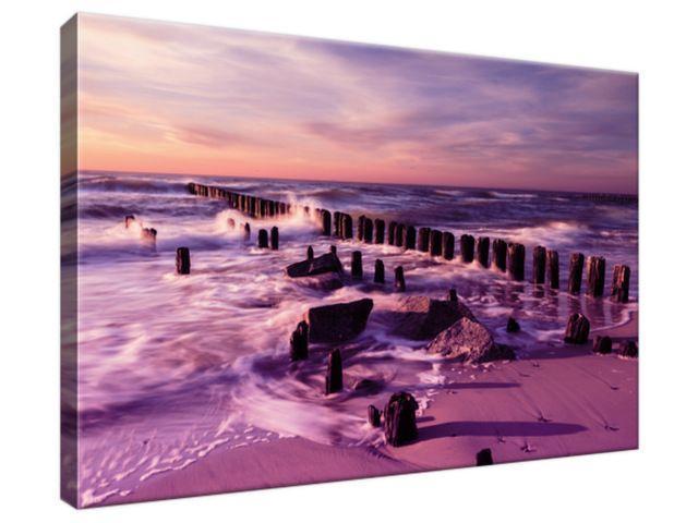 Obraz na plátne Krásny fialový západ slnka 30x20cm 3124A_1T