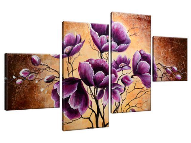 Obraz na plátne Rastúce fialové kvety 160x90cm 1506A_4Q