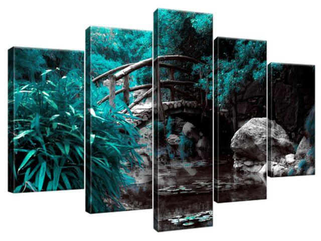 Obraz na plátne Tyrkysová Japonská záhrada 100x63cm 2542A_5D