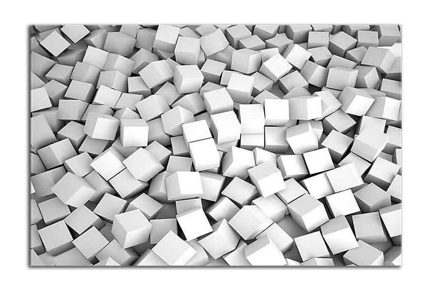 Obraz Pozadie 3d biele kocky zs24895