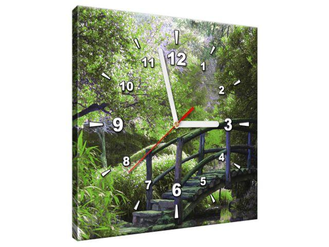 Obraz s hodinami Nádherná Japonská záhrada 30x30cm ZP2546A_1AI