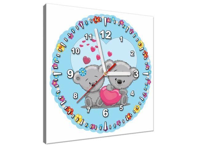 Obraz s hodinami Zaľúbení mackovia 30x30cm ZP4081A_1AI