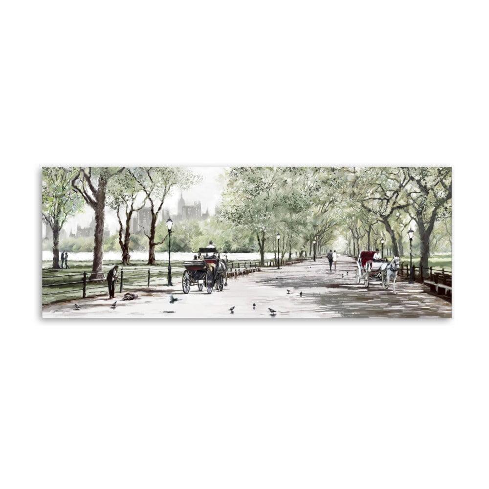 Obraz Styler Canvas Watercolor Central Park II, 60 × 150 cm