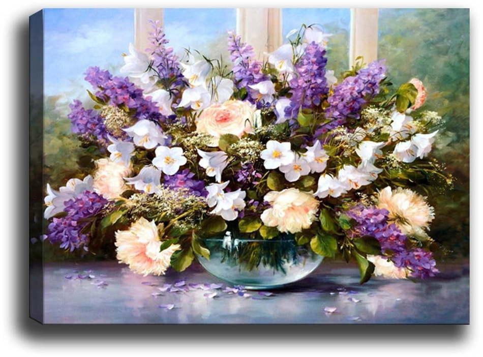 Obraz Tablo Center Purple Flowers, 70 × 50 cm