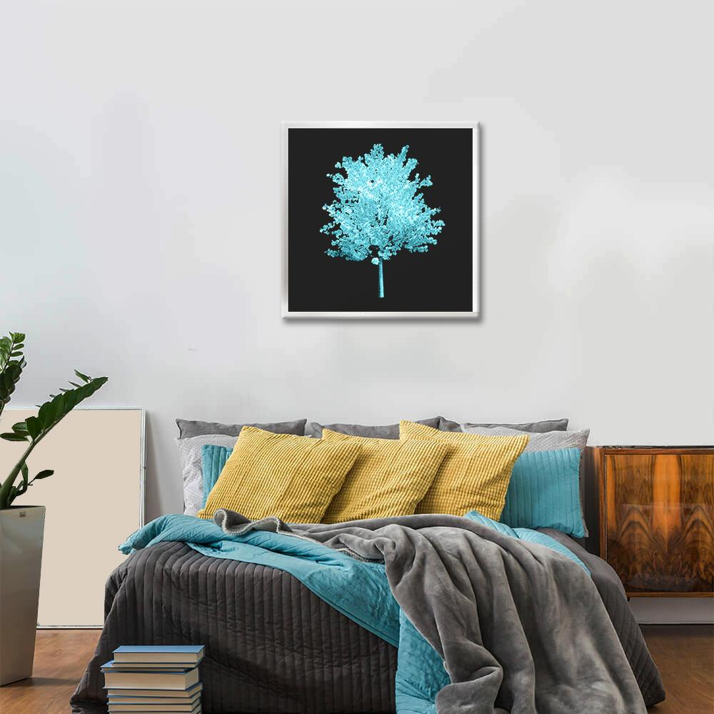 Obraz Tyrkysový Strom na zrkadle Mirrora 57 - 50x50 cm
