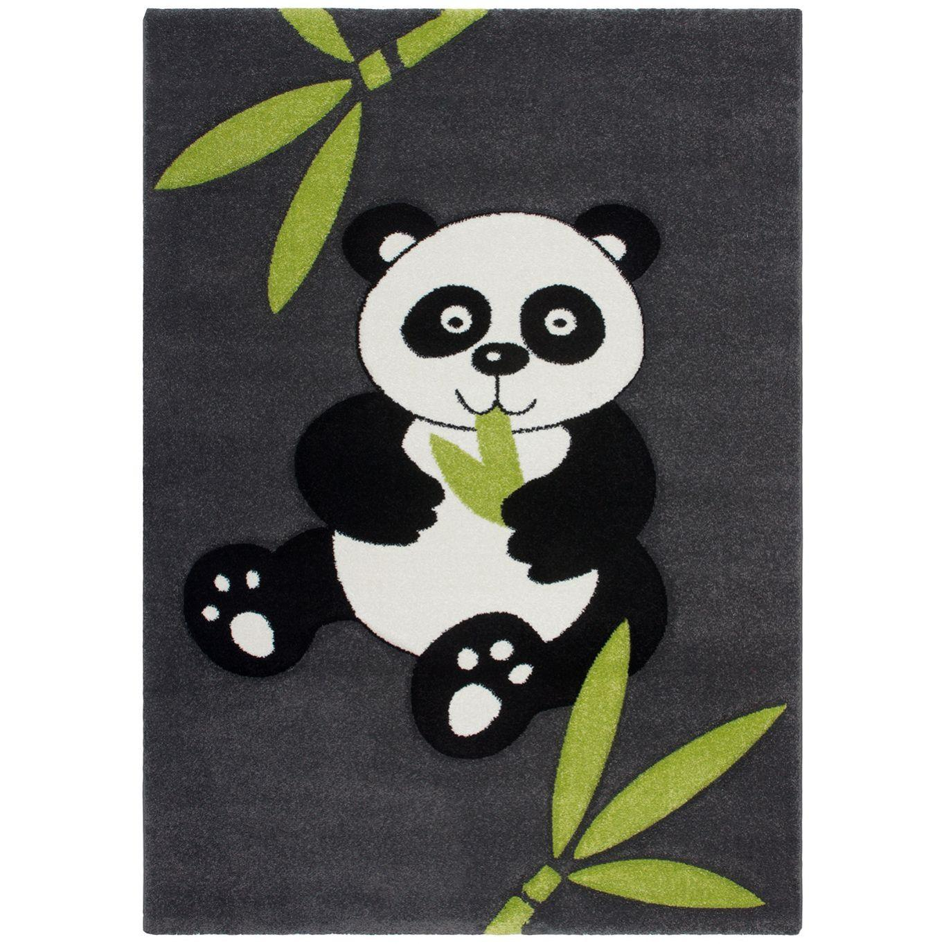 Obsession Detský koberec CALIFORNIA KIDS 153 Panda čierny, od 80x150 cm