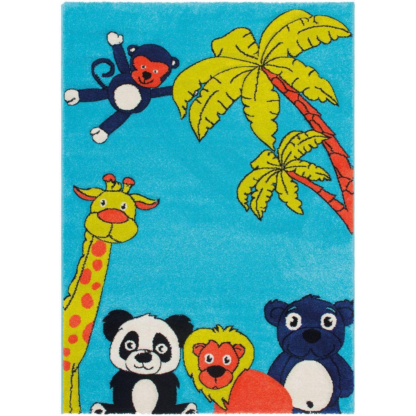 Obsession Detský koberec CALIFORNIA KIDS 174 Džungľa aqua, od 80x150 cm