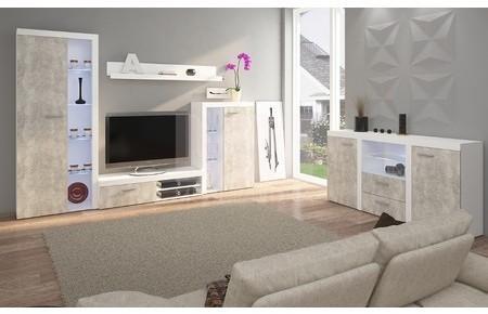 Obývacia stena s komodou OLIMP beton Varianta LED osvetlenie