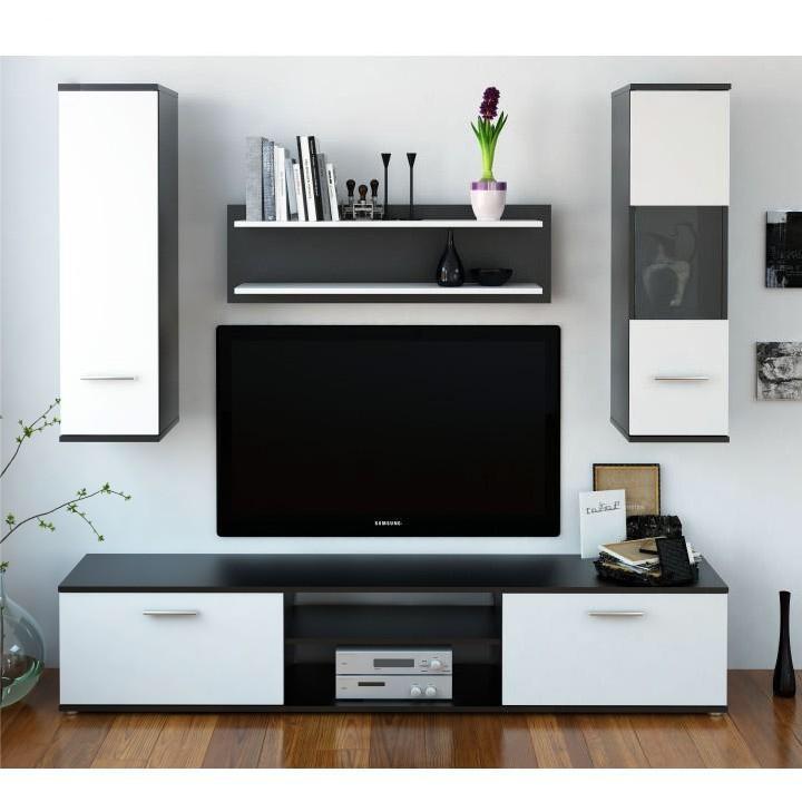 Obývacia stena Waldron (čierna + biela)