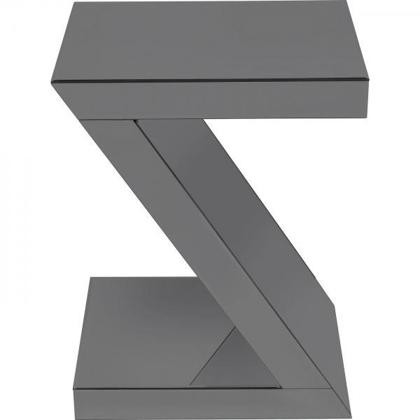 Odkládací stolek Luxury Z - šedý, 45x33cm