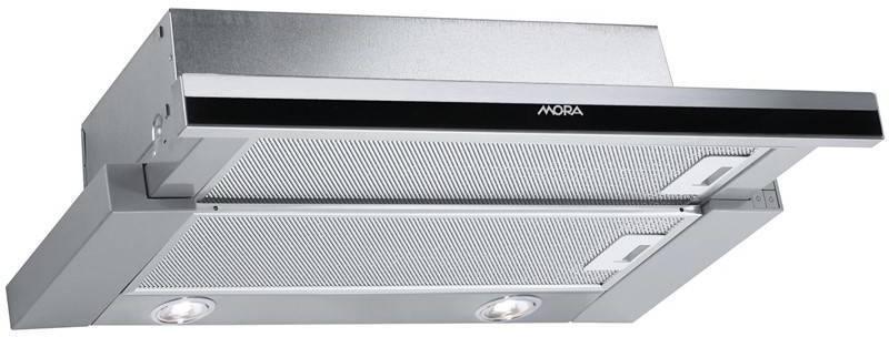 Odsávač pár Mora Premium OT 652 MX čierny/nerez/sklo