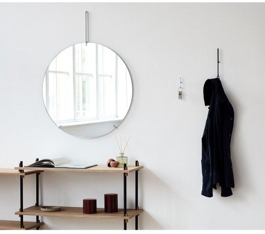 Okrúhle nástenné zrkadlo MOEBE black