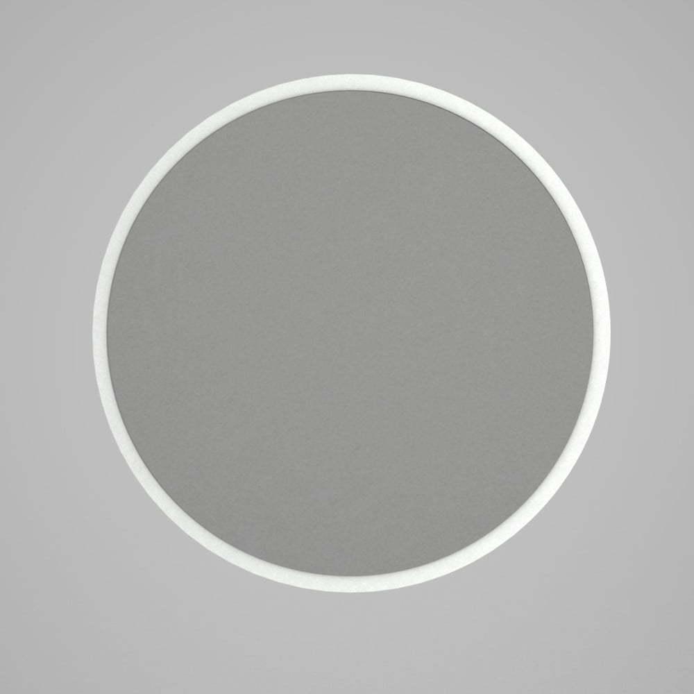 Okrúhle nástenné zrkadlo v bílémém ráme Glob, ⌀ 59 cm