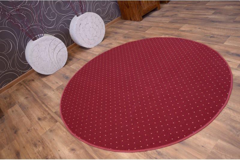 Okrúhly koberec AKTUA Breny červený