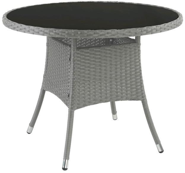 Okrúhly záhradný stôl Jakarta 90x90 cm, šedo-hnedý