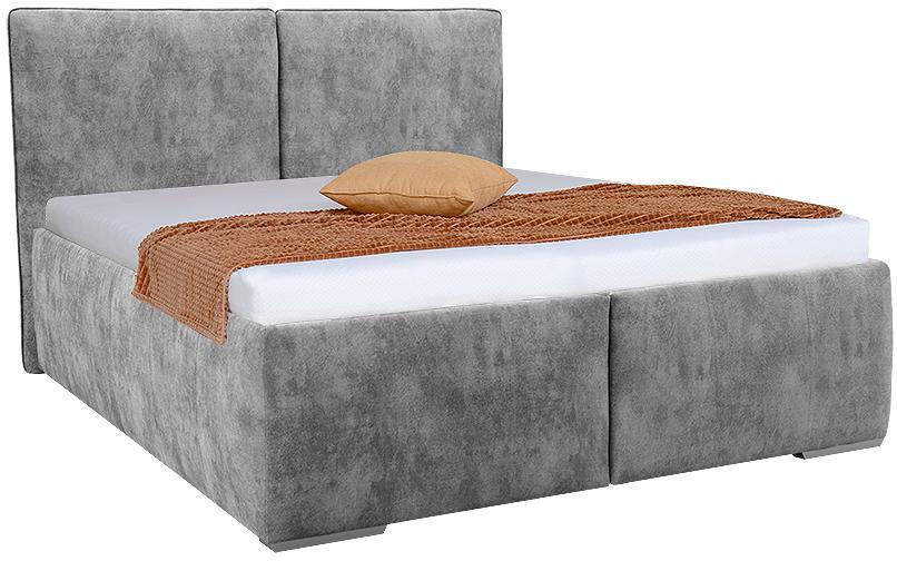OKTAVIA vysoká čalúnená posteľ s úložným priestorom