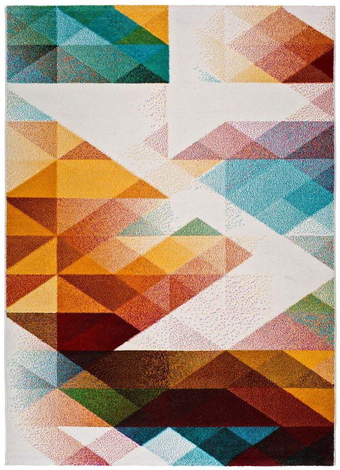 Oranžovotyrkysový koberec Universal Pandora, 120 × 170 cm
